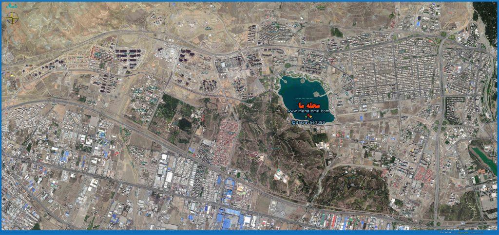 نقشه منطقه 22 کامل و بصورت هوایی (ماهواره ای)